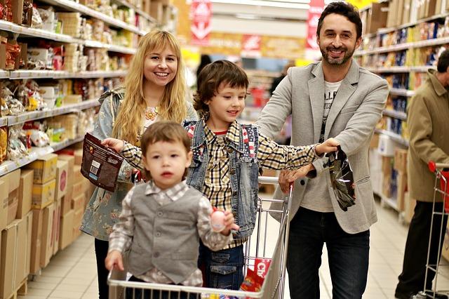 nákupy rodiny