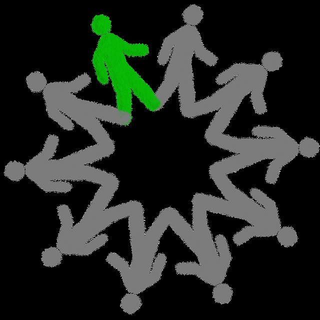 ekologický jedinec vyznačený v kruhu